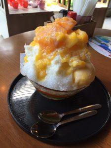一福茶屋のマンゴーミルクカキ氷