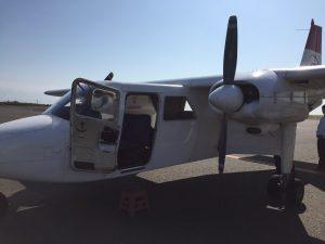 徳之島行きの飛行機