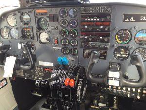 徳之島行きの飛行機の内部